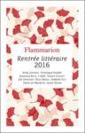 Livre numérique Flammarion : catalogue de la Rentrée littéraire 2016