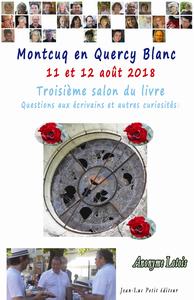 Livre numérique Montcuq en Quercy Blanc 11 et 12 août 2018
