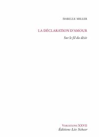 Libro electrónico La déclaration d'amour