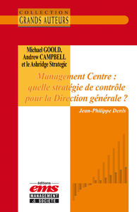 Livro digital Michael Goold, Andrew Campbell et le Ashridge Strategic