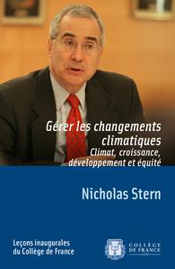 Electronic book Gérer les changements climatiques. Climat, croissance, développement et équité