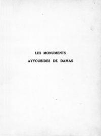 Electronic book Les monuments Ayyoubides de Damas