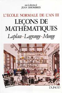 Livre numérique L'École normale de l'an III. Vol. 1, Leçons de mathématiques