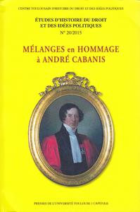 Livre numérique Mélanges en hommage à André Cabanis