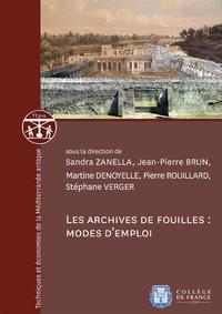 Electronic book Les archives de fouilles: modes d'emploi