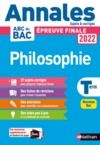E-Book Annales ABC du BAC 2022 - Philosophie Tle - Sujets et corrigés - Enseignement commun Terminale - Epreuve finale Bac 2022