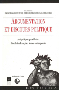 Electronic book Argumentation et discours politique