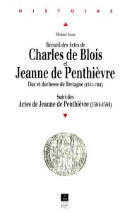 Electronic book Recueil des Actes de Charles de Blois et Jeanne de Penthièvre