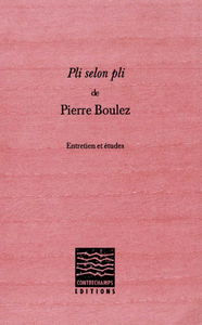 Livre numérique Pli selon Pli de Pierre Boulez