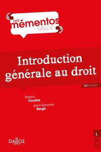 Libro electrónico Introduction générale au droit - 16e éd.