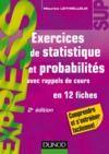 Livre numérique Exercices de statistique et probabilités - 2e éd.