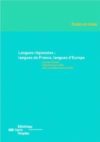 Livre numérique Langues régionales: langues de France, langues d'Europe