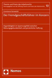 Livre numérique Der Fremdgeschäftsführer im Konzern