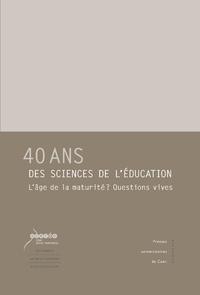 Libro electrónico 40 ans des sciences de l'éducation