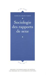 Livre numérique Sociologie des rapports de sexe