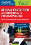 Livre numérique Réussir l'entretien aux concours de la fonction publique