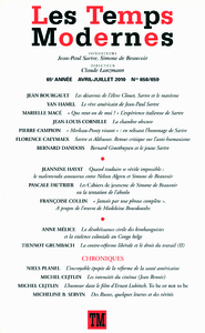 Livro digital Les Temps Modernes N° 658
