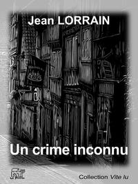 Livre numérique Un crime inconnu