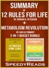 Livre numérique Summary of 12 Rules for Life: An Antidote to Chaos by Jordan B. Peterson + Summary of Metabolism Revolution by Haylie Pomroy 2-in-1 Boxset Bundle