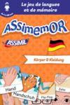 Electronic book Assimemor – Mes premiers mots allemands : Körper und Kleidung