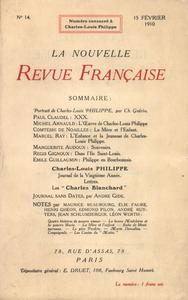 Livre numérique Charles-Louis Philippe N' 14 (Février 1910)