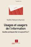 Livre numérique Usages et usagers de l'information