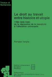 Livre numérique Le droit au travail entre histoire et utopie