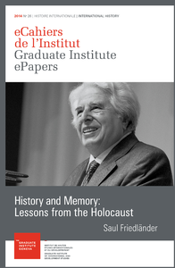 Livre numérique History and Memory: Lessons from the Holocaust