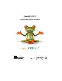 Livre numérique Spécificités n°4. C'est la crise !