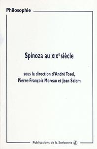Livre numérique Spinoza au XIXe siècle