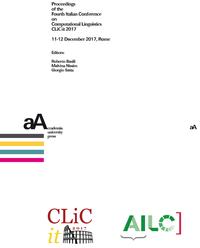 Livre numérique Proceedings of the Fourth Italian Conference on Computational Linguistics CLiC-it 2017