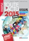 Livre numérique Toute l'actu 2015 Sujets et chiffres de l'actualité 2015 - Concours & examens 2016