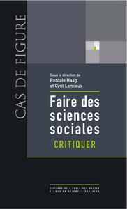 Livre numérique Faire des sciences sociales. Critiquer