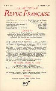 Livre numérique La Nouvelle Revue Française N' 89 (Mai 1960)