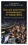 Livre numérique Sur les questions économiques et financières