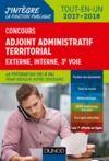 Livre numérique Concours Adjoint administratif territorial 2017/2018 - 3e éd.