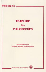 Livre numérique Traduire les philosophes