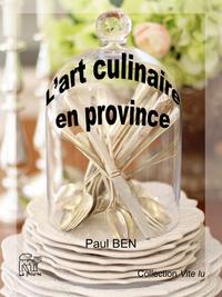 Livre numérique L'art culinaire en province