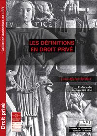 Livre numérique Les définitions en droit privé