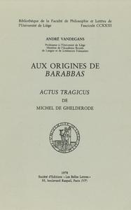 Electronic book Aux origines de Barabbas