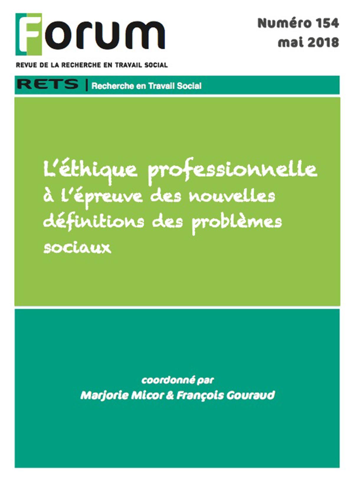 c46c5372f26 Livre numérique Forum 154   L éthique professionnelle à l épreuve des  nouvelles définitions