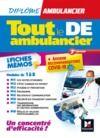 Livre numérique Tout le DE - Ambulancier - modules 1 à 8 en fiches mémos - DEA - Révision 3e édition