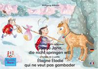 Livre numérique Die Geschichte von der kleinen Gämse Jana, die nicht springen will. Deutsch-Französisch. / L'histoire de la petite Étagne Élodie qui ne veut pas gambader. Allemand-Francais.