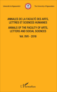 Livre numérique Annales de la faculté des arts, lettres et sciences humaines Vol XVII - 2016