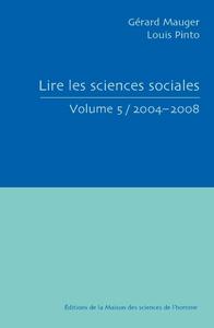 Livre numérique Lire les sciences sociales. Volume 5/2004-2008
