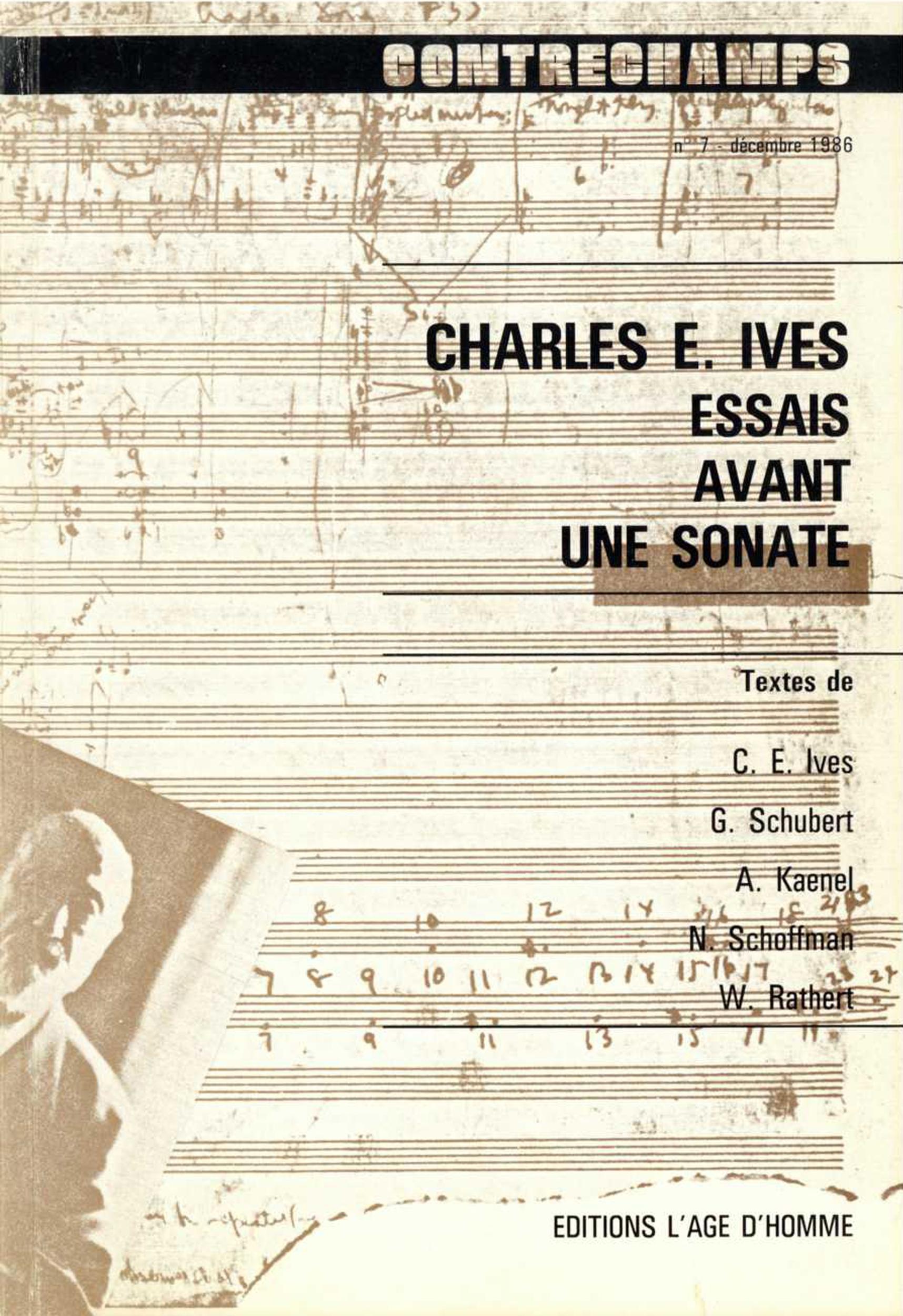 Charles E. Ives. Essais avant une sonate Essais avant un