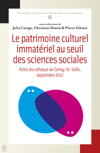 Livre numérique Le patrimoine culturel immatériel au seuil des sciences sociales