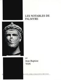 Livre numérique Les notables de Palmyre