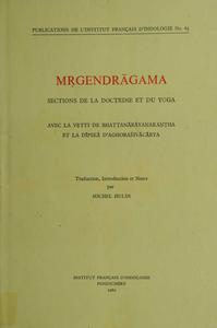 Livre numérique Mṛgendrāgama. Sections de la doctrine et du yoga