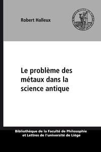 Electronic book Le problème des métaux dans la science antique